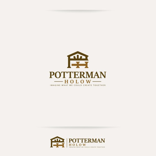 Rustic brand with the title 'Potterman Holow'