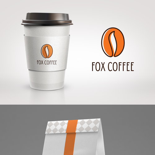 Abstract fox logo with the title 'Capture the attention of modern coffee drinkers and wholesale coffee purchasers'
