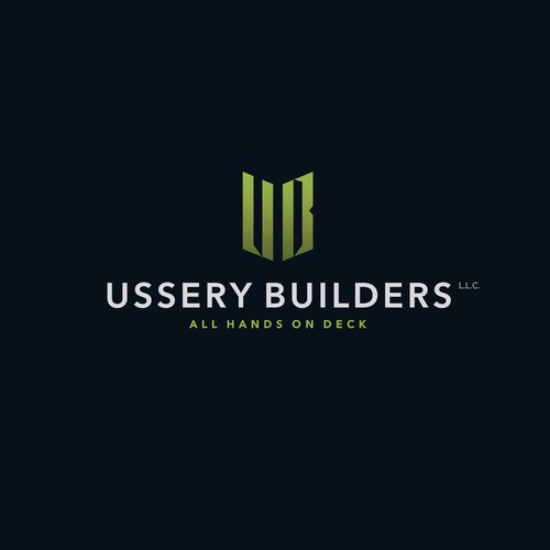 Deck design with the title '«Ussery Builders» logo'