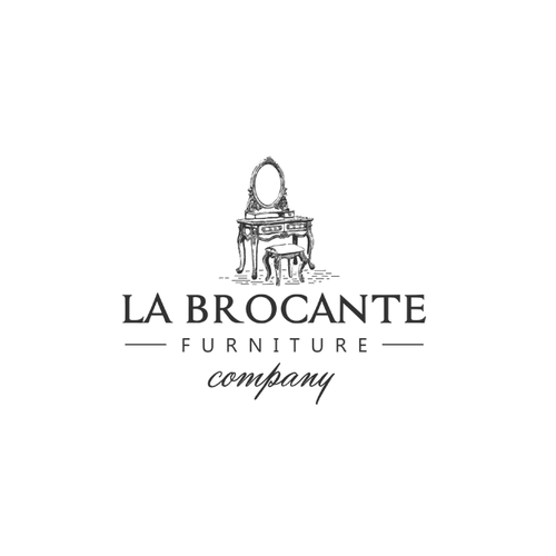 Antique logo with the title 'Classic logo for vintage furniture'