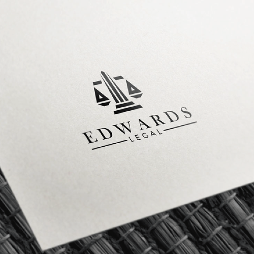 Lawyer logo with the title 'Edwards Legal'