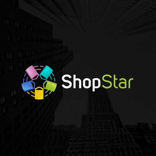 Shopping logo with the title 'ShopStar'
