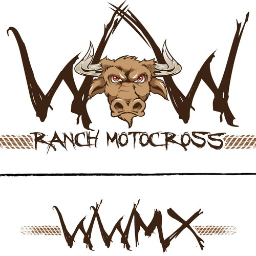 Motocross logo with the title 'Ranch Motocross Logo'