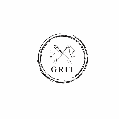 Lumberjack logo with the title 'Grit'