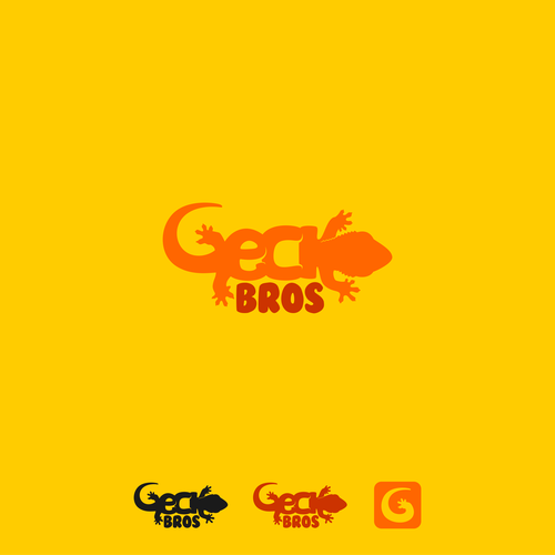 Orange and yellow logo with the title 'gecko '