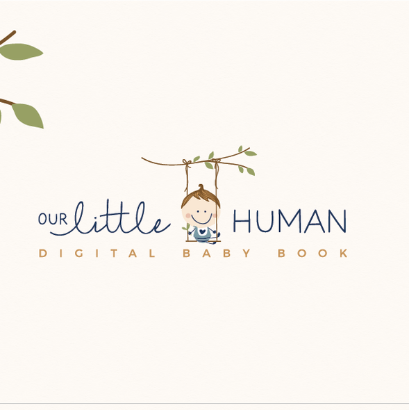 Family tree design with the title 'Our little human '