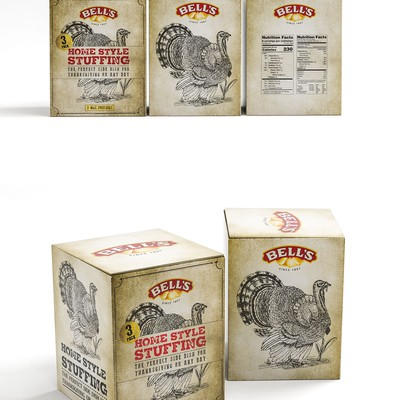 Vintage Grunge packaging for Stuffing