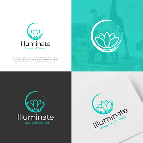 Pilates logo with the title 'Logo Illuminate'