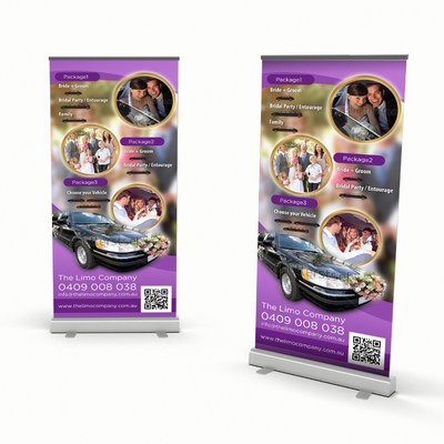 Roll Up Banner Design for Wedding Limo Service