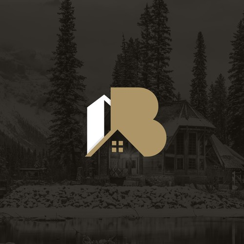 Real estate brand with the title 'AB - Real Estate'