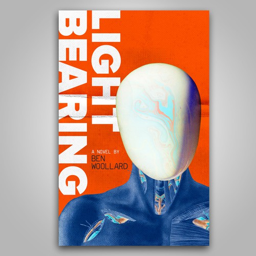 Science fiction design with the title 'Light Bearing | Book Cover'