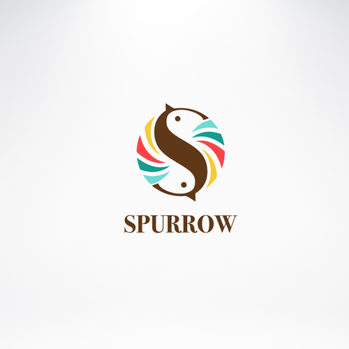 Sparrow design with the title 'Logo concept'