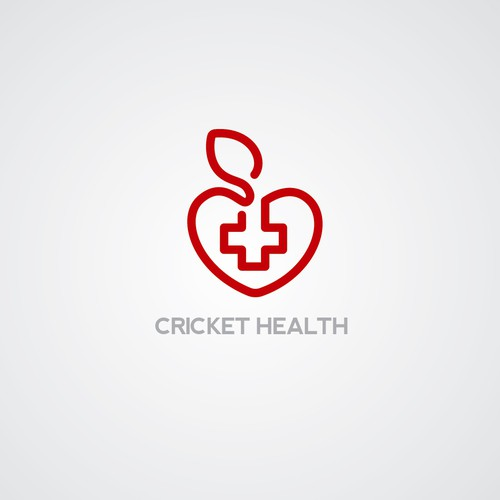 Apple brand with the title 'Cricket Health company logo'