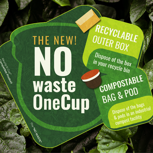 Product design artwork with the title 'Compostable Product Graphic'