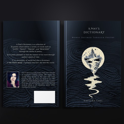Poetry design with the title 'A Poet's dictionary'