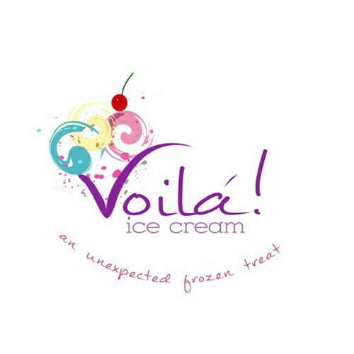 Ice cream shop design with the title 'Create the next logo for Voila! Ice Cream'
