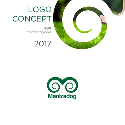 Roll logo with the title 'M letter Logo for Yogo mat manufacturing company'
