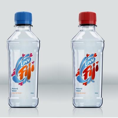 LoveFiji天然水标签设计