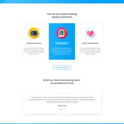 Custom Emoji Service Landing Page