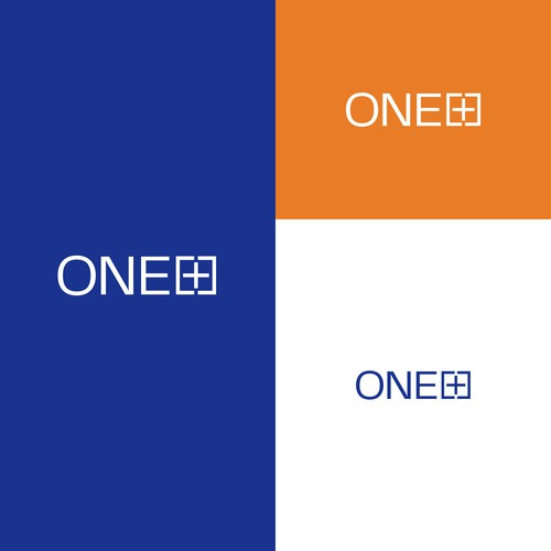 Plus design with the title 'One+ logotype'