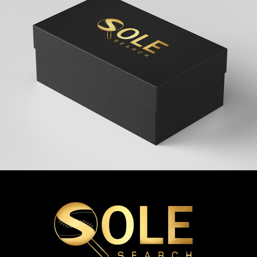 Sneaker logo with the title 'Logo for a Shoes Brand'