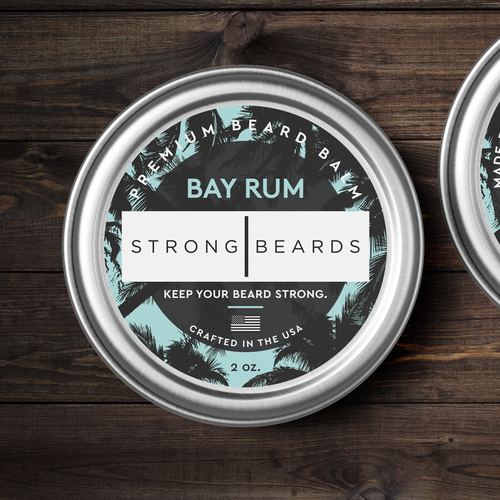 Men design with the title 'Beard balm label needed for premium men's grooming company'