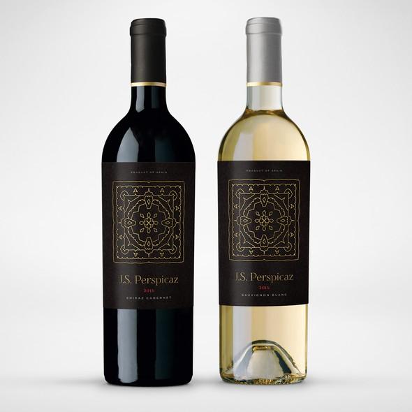 Spanish design with the title 'Modern, minimalistic Spanish wine label'