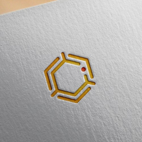 Beekeeping logo with the title 'Abstract icon for Bee Scanning Company'