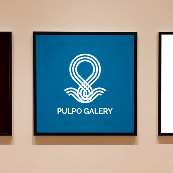 Art gallery design with the title 'Logo for an Art Galery - Pulpo'