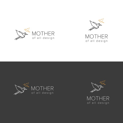 Origami logo with the title 'Logo for toddler products'