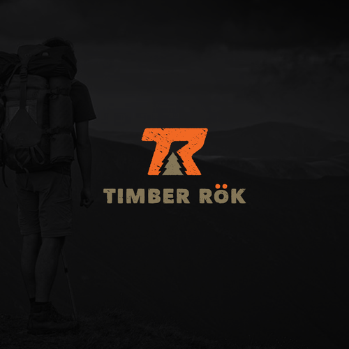 Lettermark logo with the title 'Design an iconic logo for Timber Rök. An outdoor product company'