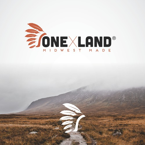 Outdoor logo with the title 'One X Land logo'