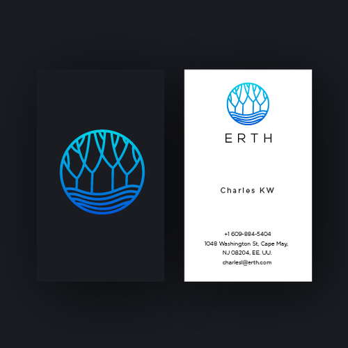 Landscaping logo with the title 'Erth'