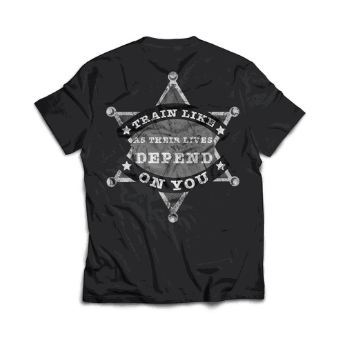 Sheriff design with the title 'Grunge t-shirt'