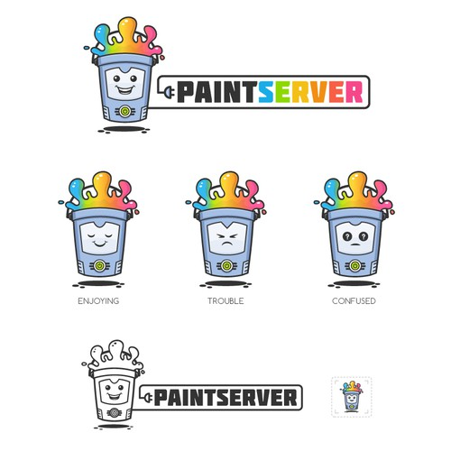 Computer illustration with the title 'PaintServer'