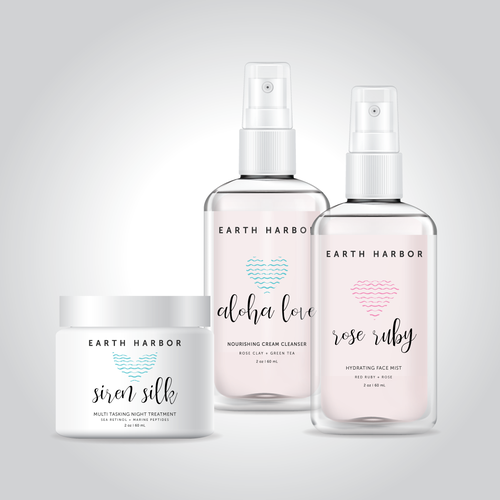 Beauty packaging with the title 'Cosmetic concept '