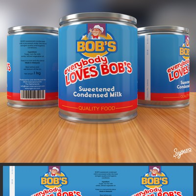 Bob's Sweetened and Condensed Milk needs a new look.