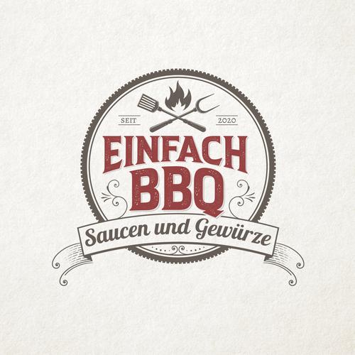 Pork logo with the title 'EinfachBBQ'