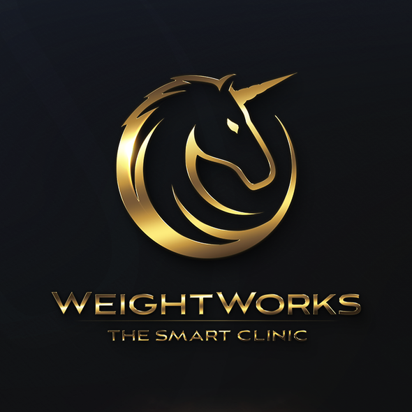 Weight logo with the title 'WeightWorks The Smart Clinic Logo design'