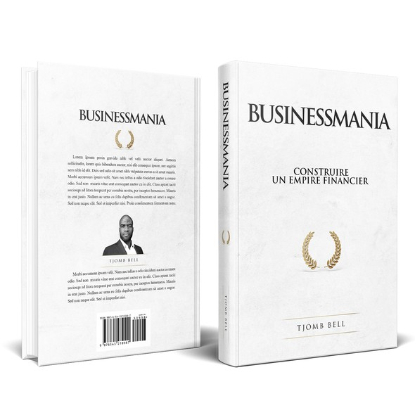Laurel design with the title 'Book cover for Businessmania'