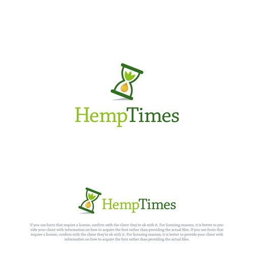 Hemp oil logo with the title 'Hemp Times'
