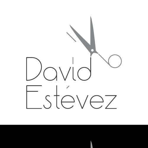 Hair dresser logo with the title 'Logotipo de peluquería David Estévez'