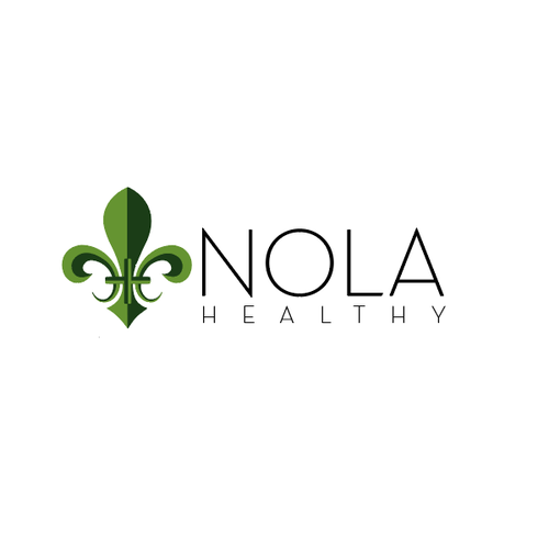 Fleur de lis design with the title 'Bold Design for Nola Fitness'
