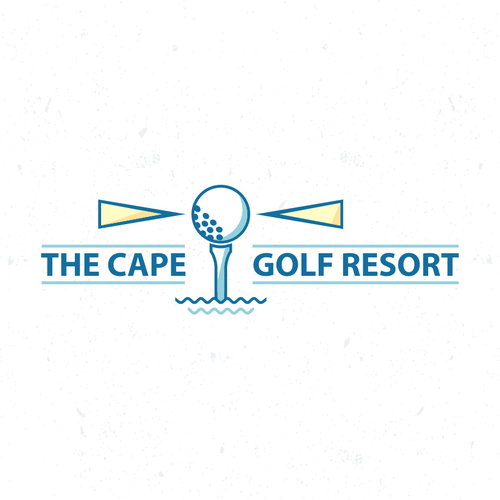 Superhero cape logo with the title 'a Golf Course captivating logo'