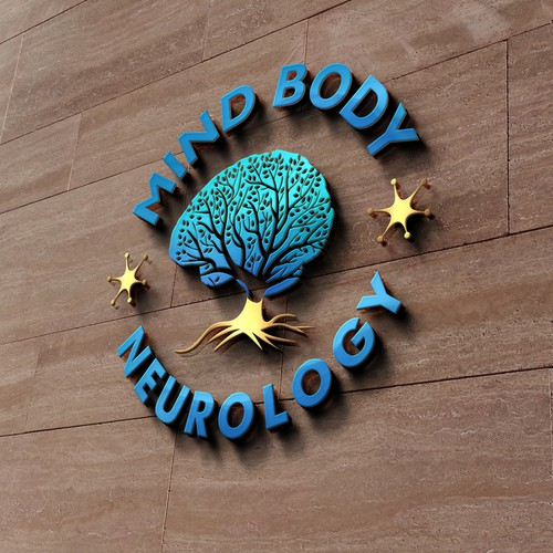 Neurologist logo with the title 'Mind body neurology'