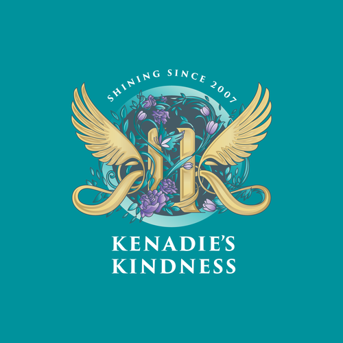 Calligraphy design with the title 'Kenadie's Kindness'