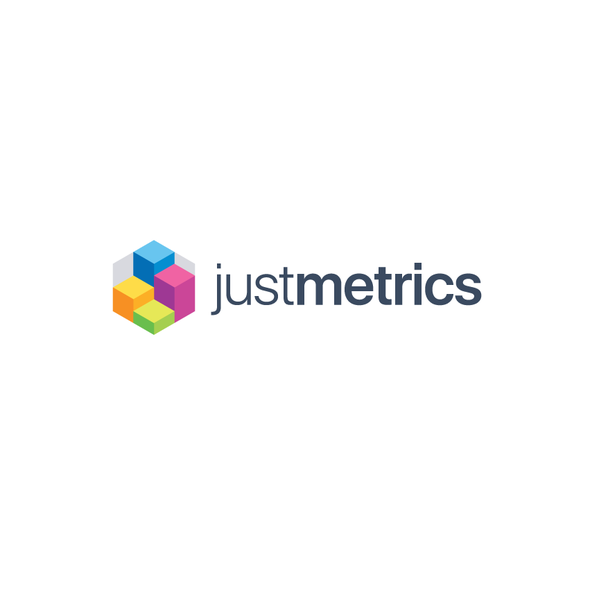 Hexagon logo with the title 'Logo for Just Metrics'
