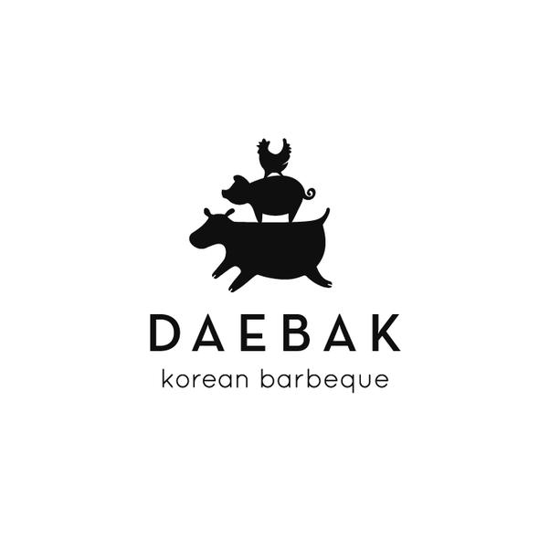 Korea logo with the title 'Fun Logo for Korean Barbeque, DAEBAK!'