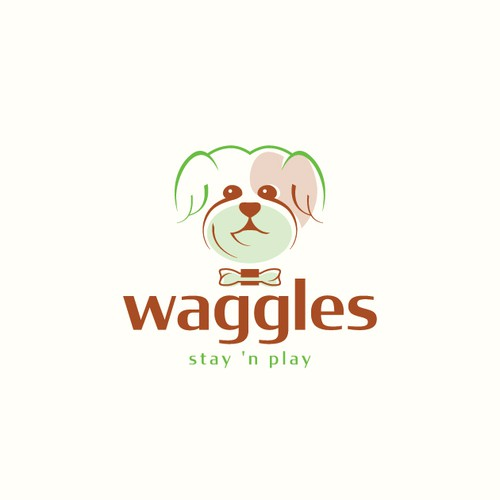 Veterinary logo with the title 'Waggles'