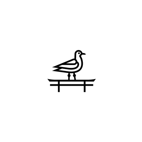 Seagull design with the title 'hachinohe cafe'